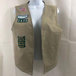 Girl Scout Uniform: Vest Khaki